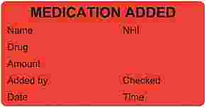 Medication Added Labels Triarc